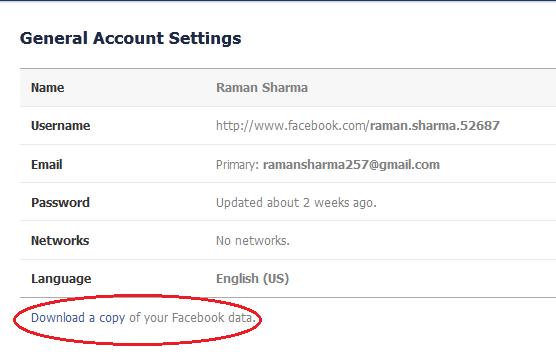 General account settings