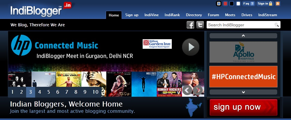 IndiBlogger Home Page