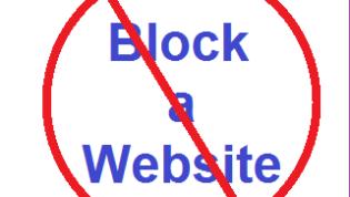 Block website symbol