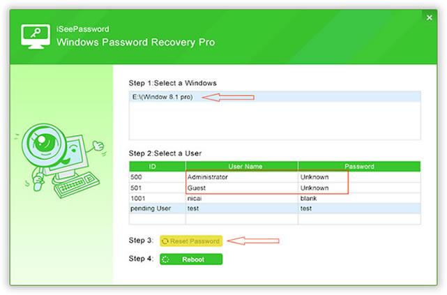 iSeePassword - Reset Windows Password