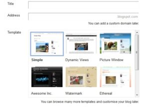 Create a New blog in Blogger.com