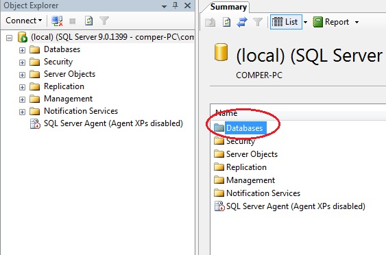 Databases in SQL Server