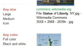 Search Google Images By Setting Color, Size and Type