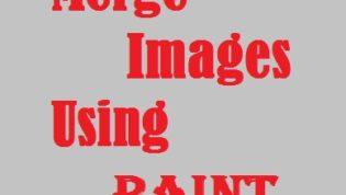 Merge images using paint