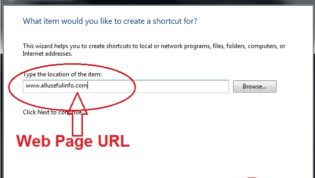How To Create Shortcut of Web Page On Your Desktop