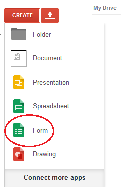 Select Form to Create