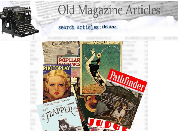 Old Magazine Articles