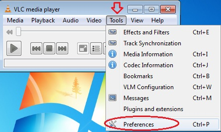 Tools > Preferences
