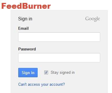 FeedBurner Log in