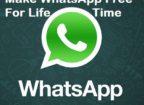 Make whatsapp free for lifetime