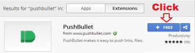 Add PushBullet Chrome Extension