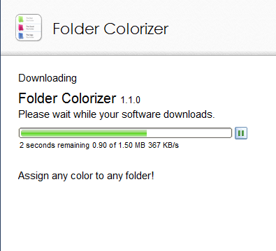 Downloading Folder Colorizer