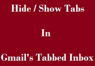 Hide or Show Tabs in Gmail