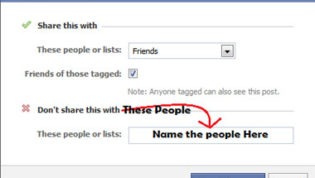 Set Custom Privacy For FB Status