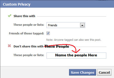 Set Custom Privacy For FB Status
