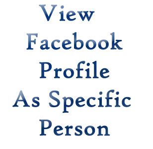 View Facebook Profile As Specific person