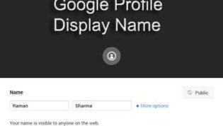Edit Your Google Profile Name