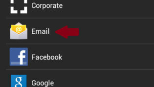 Add New Email Account in Android