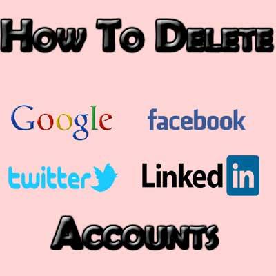 Delete Social Accounts