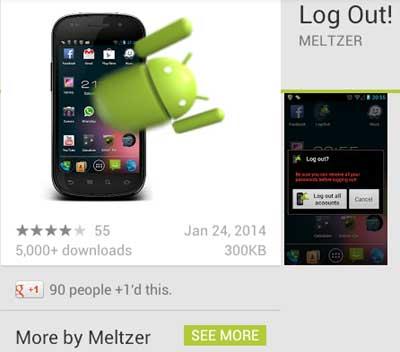 Log Out! App