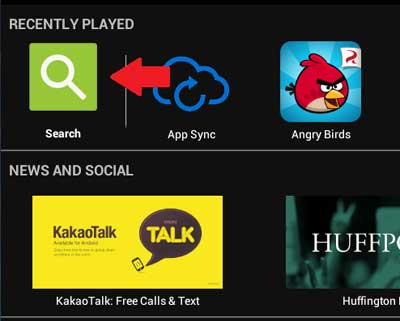 Search For apps in BlueStacks App Player