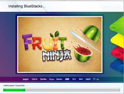 Start Installing BlueStacks