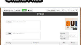 Create Online Invoice PDFs Online