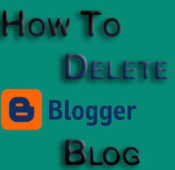 How to delete Blogger Blog