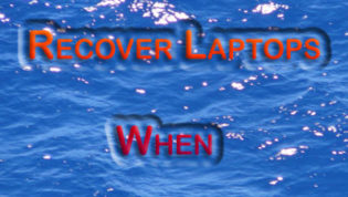 Recover laptops from water falls on it