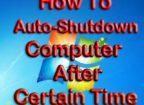 Auto Shutdown PC