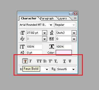 Select Faux Bold