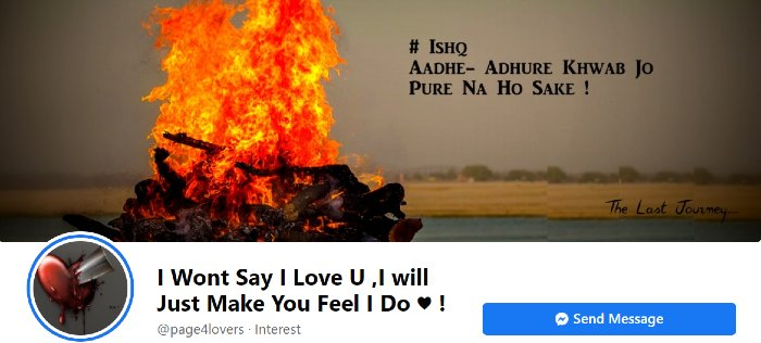I Wont Say I Love You page