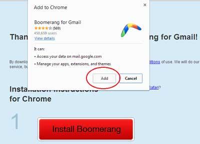 Add Boomerang extension