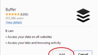 Add Buffer Chrome Extension