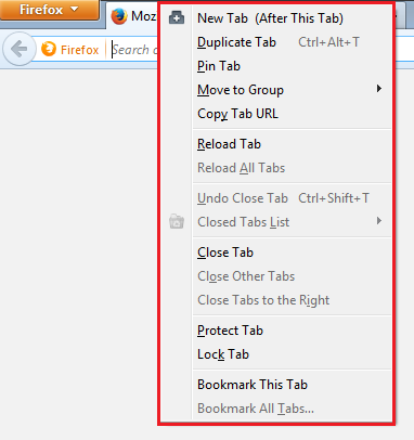Enhanced Tab Functions