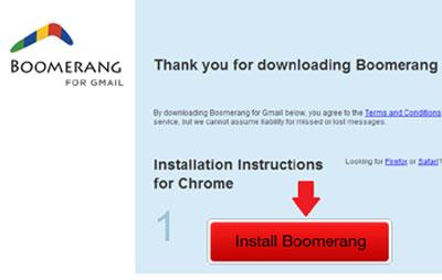 Install Boomerang Plugin