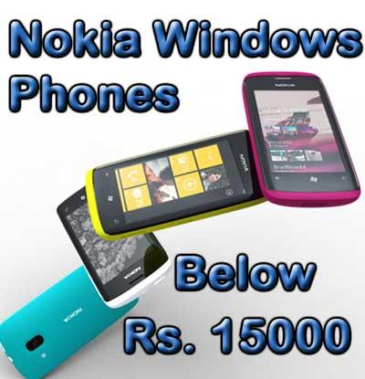 Nokia Windows Phones Below Rs 15000
