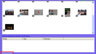 Select and recover photos