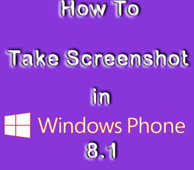 Take Screenshot in Windows Phone 8.1