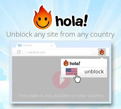 Unblock websites with Hola