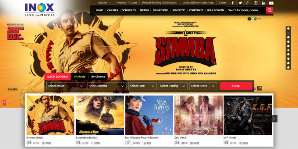 Inox Movies - Book tickets online