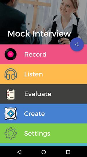 Mock interview app