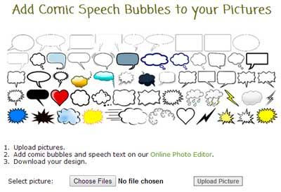Add bubbles to-photo with Kusocartoon