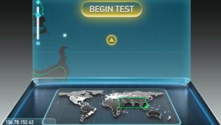 Begin Speed Test