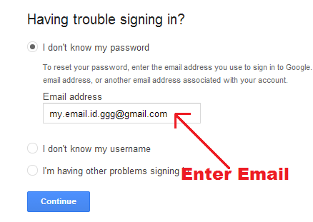 Google check if email exists