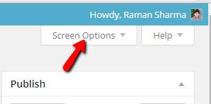 Screen Options