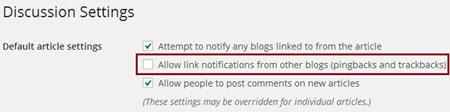 Stop Trackback spam on WordPress