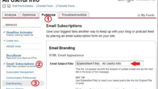 Email Branding to set Subject of email