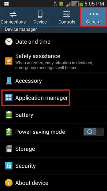 Open Application Manager