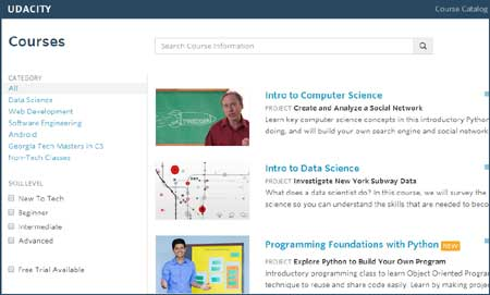 Udacity - Website for Online Courses